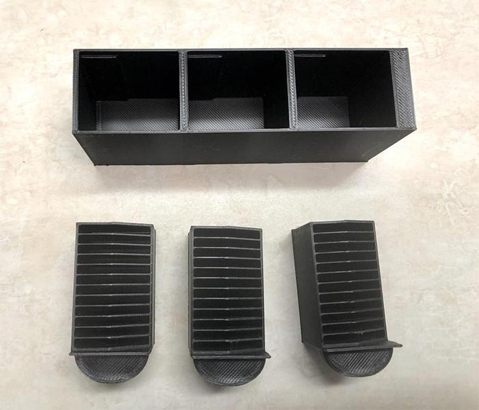 customizable tiny sd card filing cabinet black