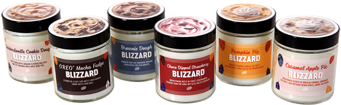 dairy queen fall blizzard candles