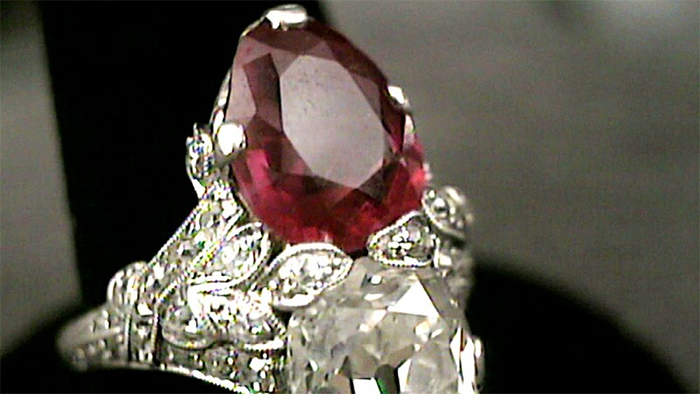 diamond and ruby ring worth a fortune