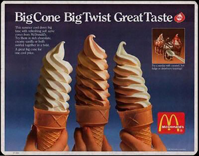 fast food twist cones