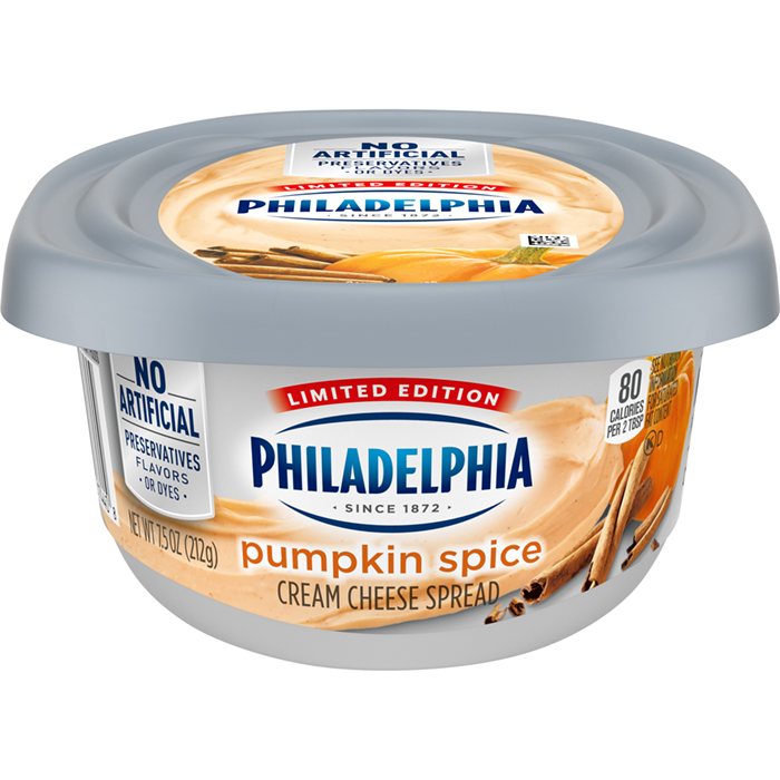 front face Philadelphia Pumpkin Spice cream cheese spread