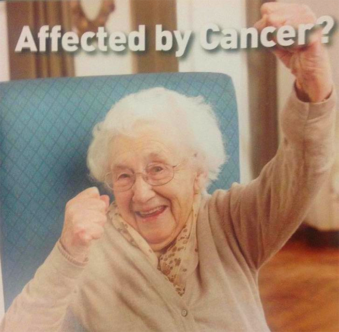 funny leaflet happy cancer