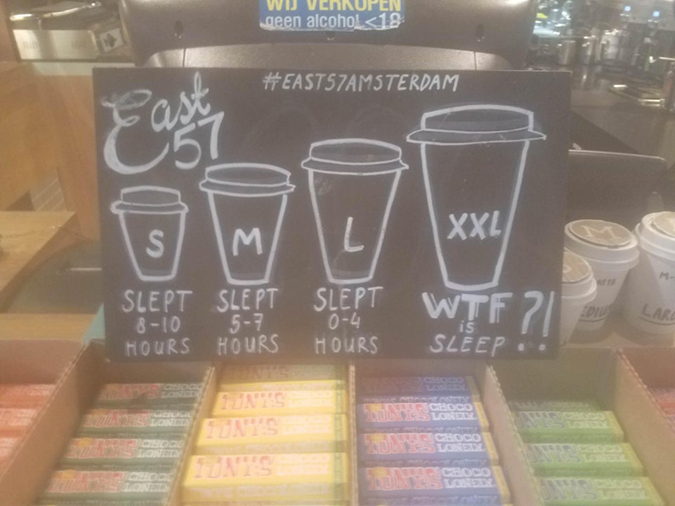 funny shops coffee cup sizes matched with sleep duration