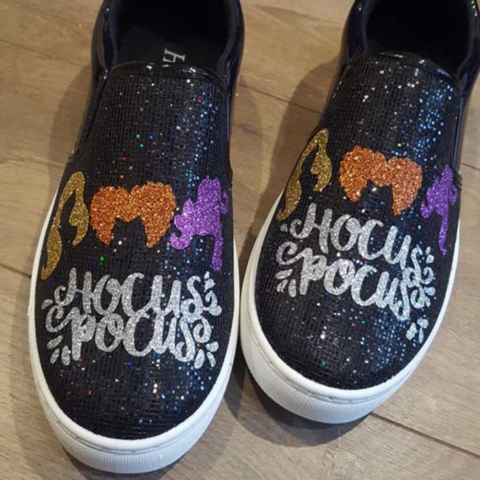 glittery hocus pocus sneakers