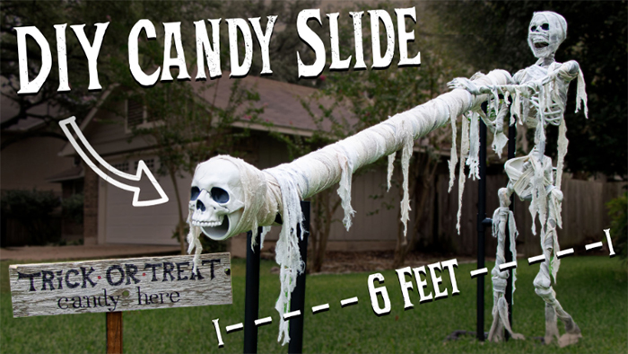 halloween candy slide