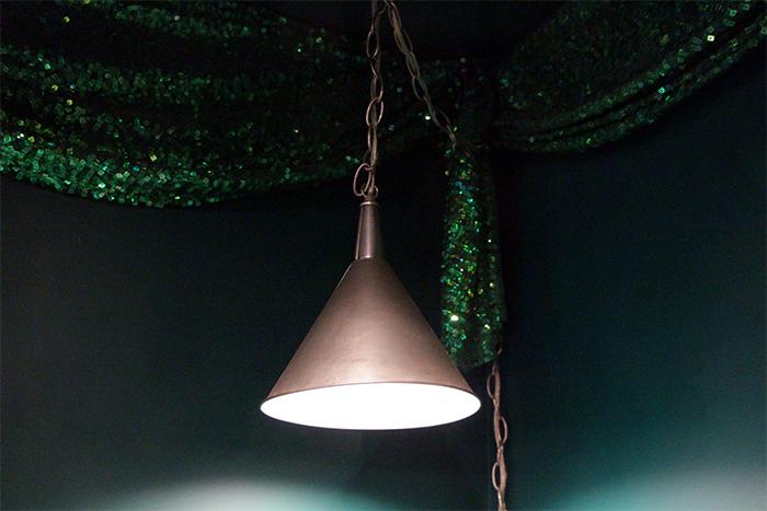 hanging light tin man hat