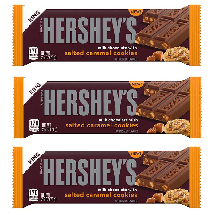 hershey's milk chocolate with salted caramel cookies