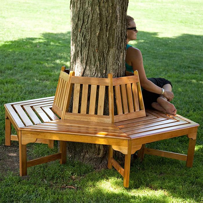 hexagonal wrap-around tree benches