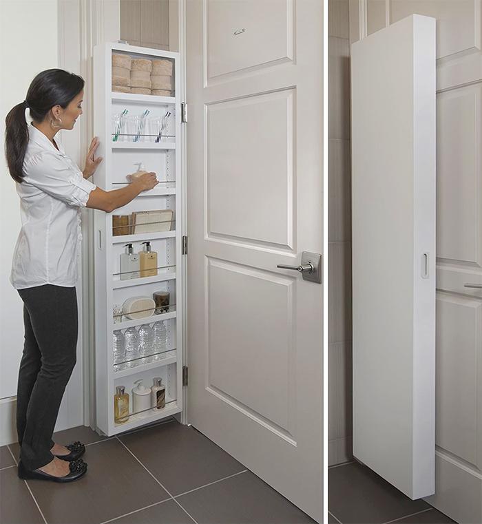 hidden storage ideas behind the door cabinet