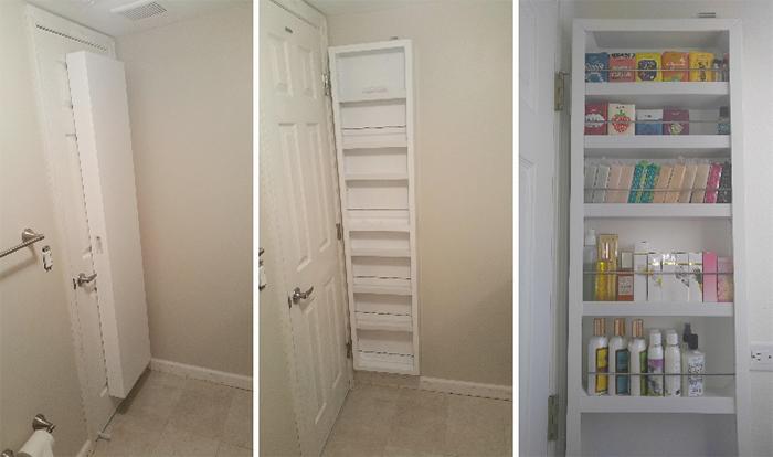 hidden storage ideas behind the door secret cabinet