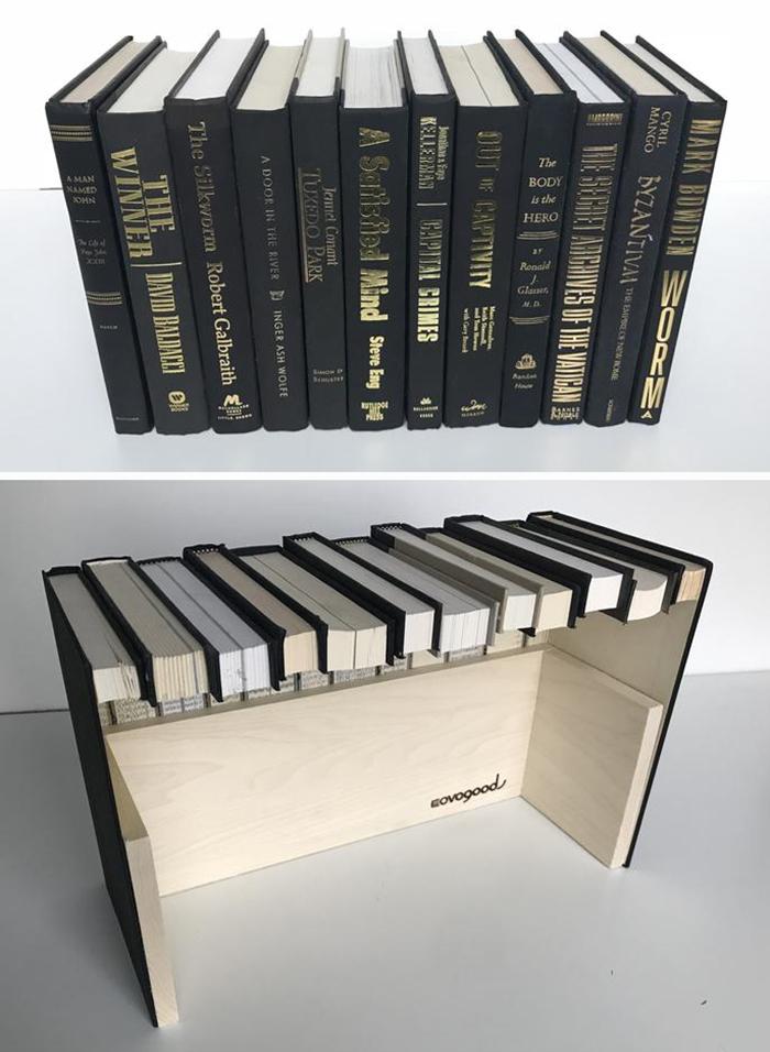 hidden storage ideas faux book box
