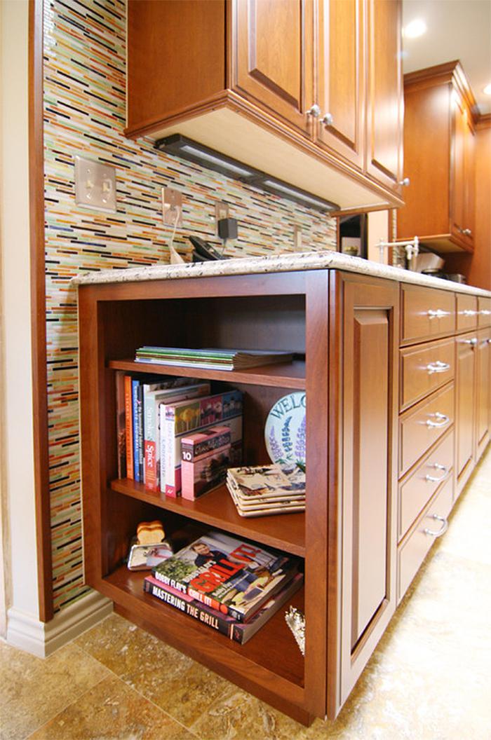hidden storage ideas kitchen drawer bookshelf