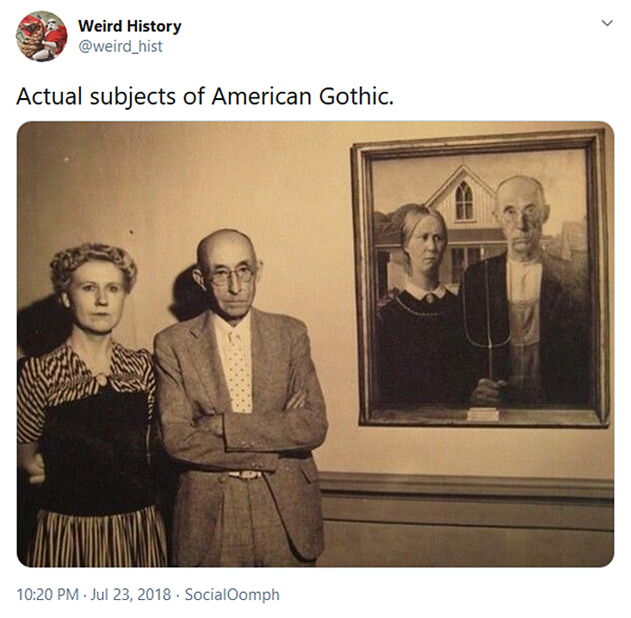 interesting historical facts american gothic subjects