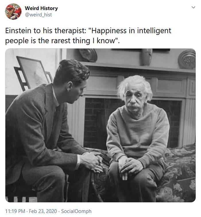 interesting historical facts einstein happiness