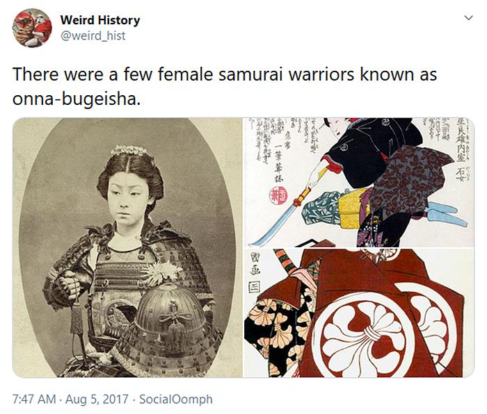 interesting historical facts female samurai warriors