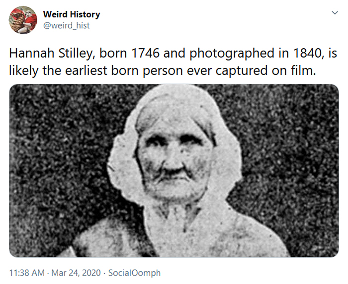 interesting historical facts first person captured on film