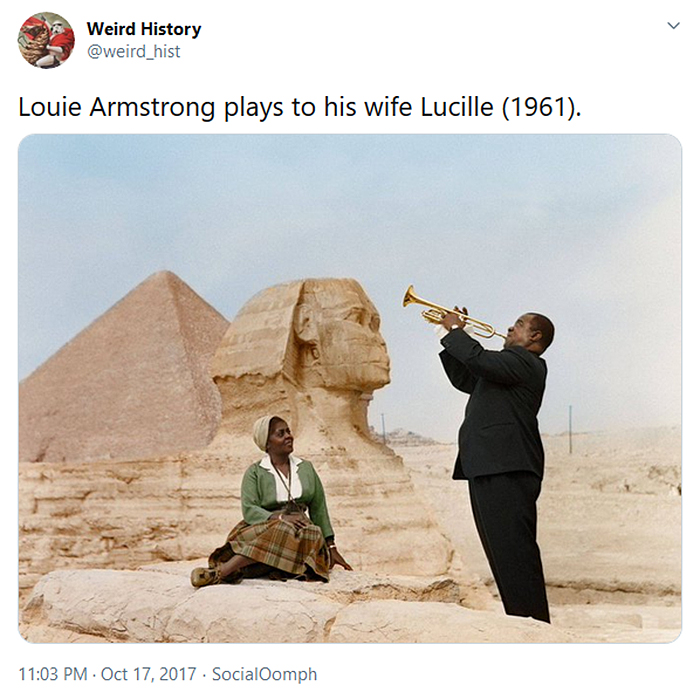 interesting historical facts louie armstrong wife