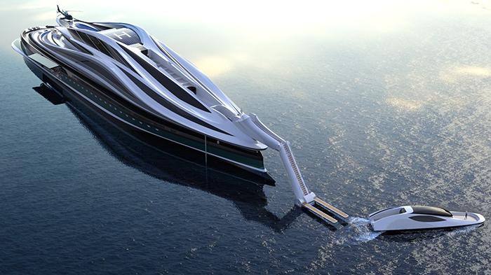 luxury electric yacht concept by lazzarini design studio