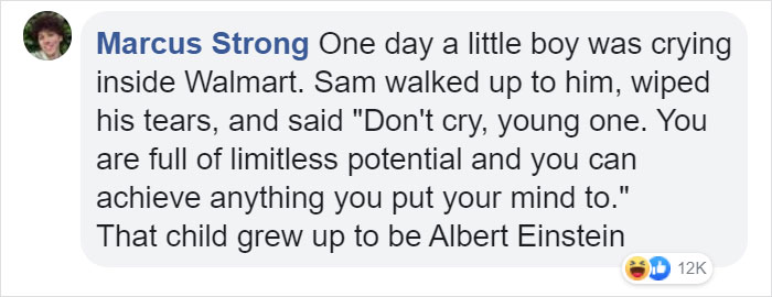 marcus strong facebook comment walmart streator cashier of the week