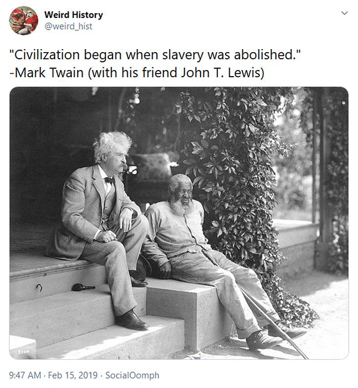 mark twain quote on slavery