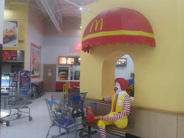 mcdonald's bench at walmart