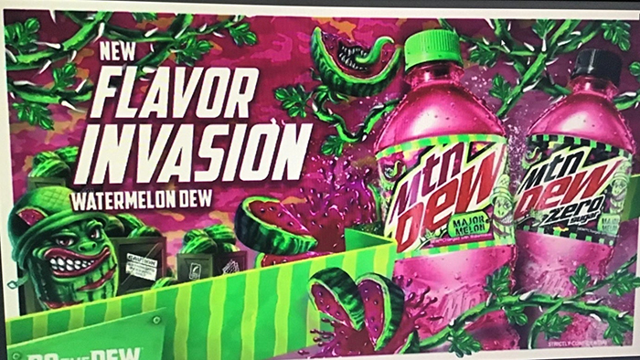 mountain dew watermelon flavor