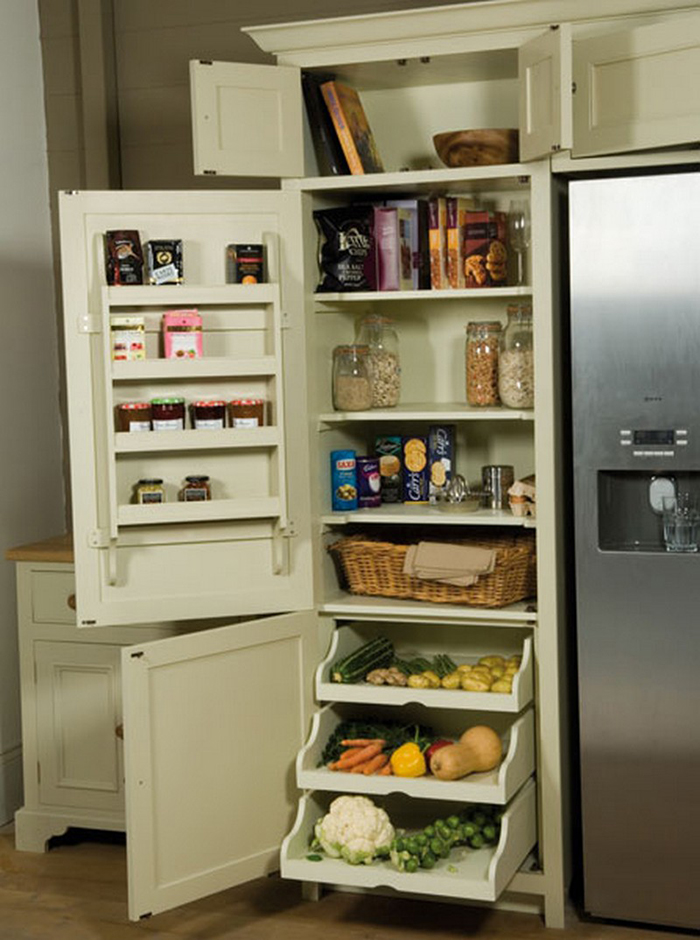 neptune wrap-around refrigerator pantry side cabinets
