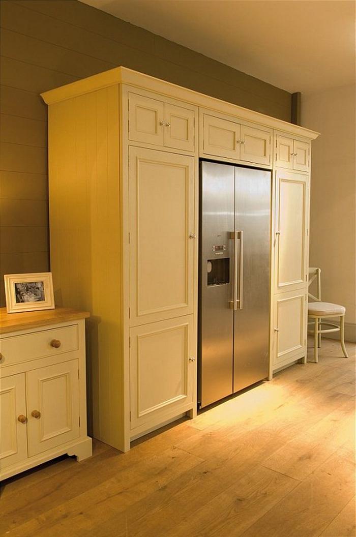 neptune wrap-around refrigerator pantry side closed