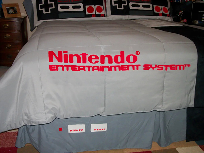 nes inspired bed sheets