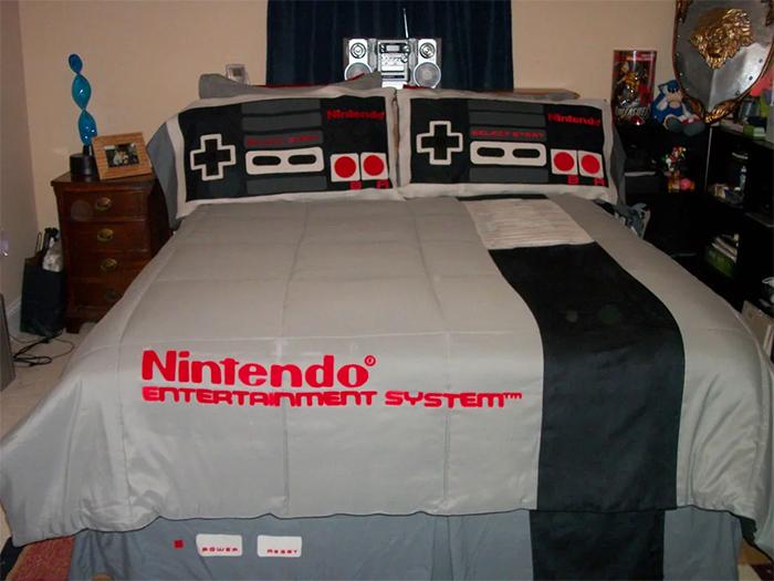 nintendo bedding set bed sheets pillowcases