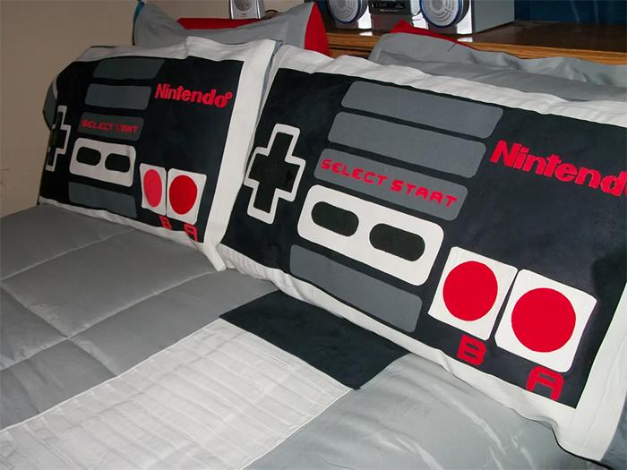 nintendo bedding set pillowcases