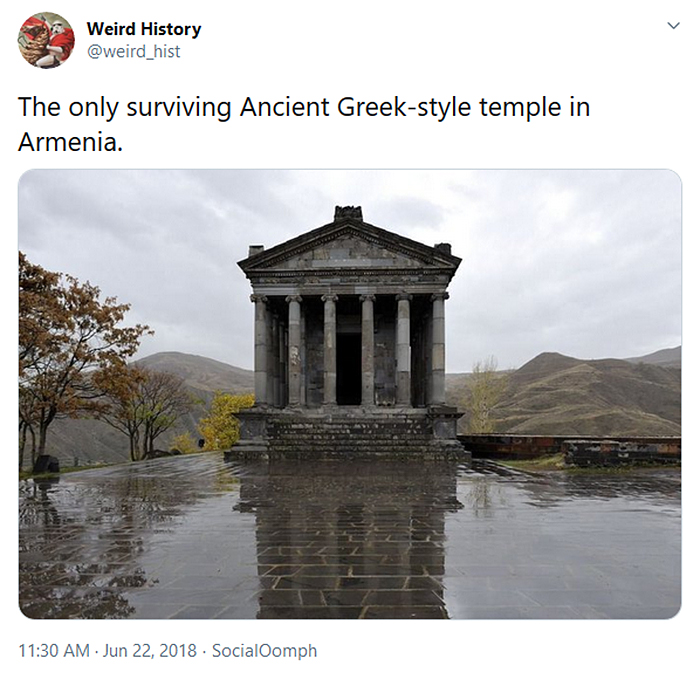only surviving ancient greek style temple armenia