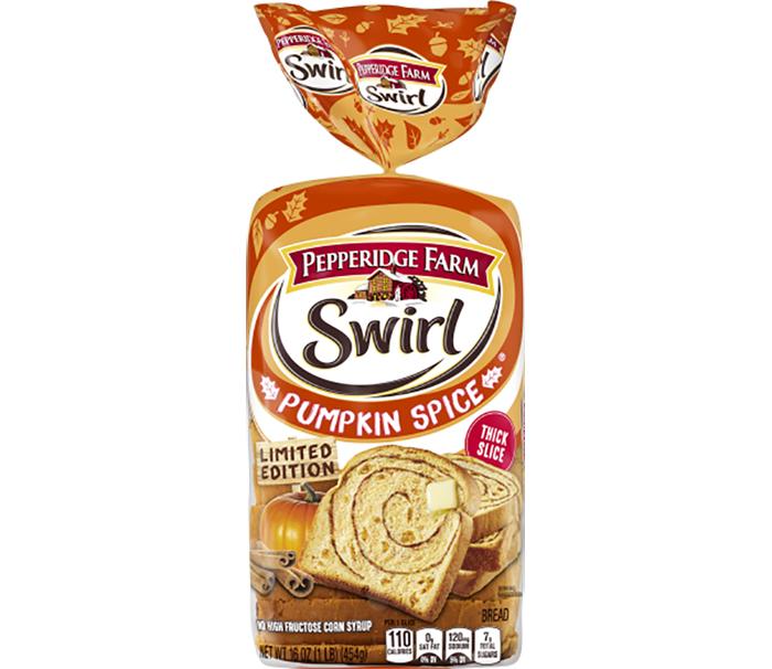pepperidge farm swirl pumpkin spice bread