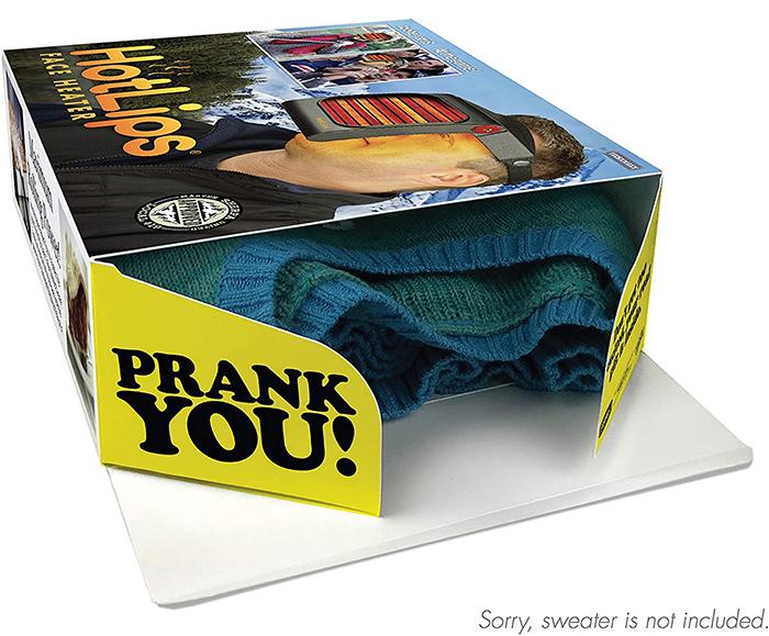 prank gift box portable warmer