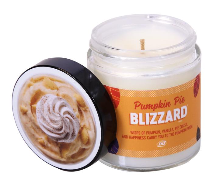pumpkin pie blizzard candle