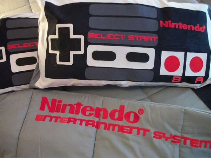 retro game controllers pillowcases