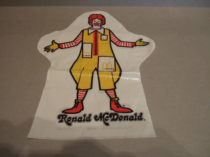 ronald mcdonald hand puppet