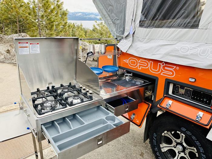 trailer slide-out kitchen stove