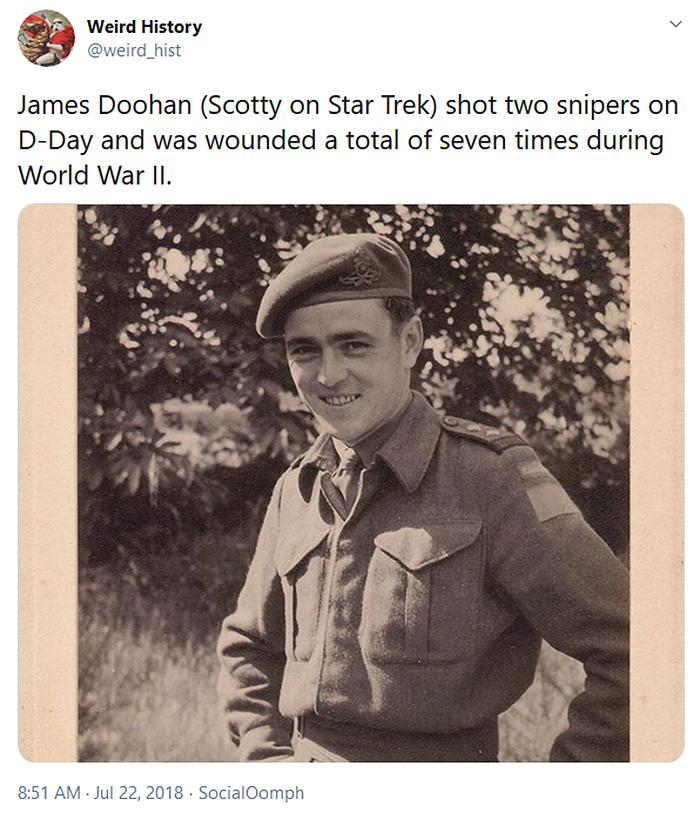 weird history james doohan