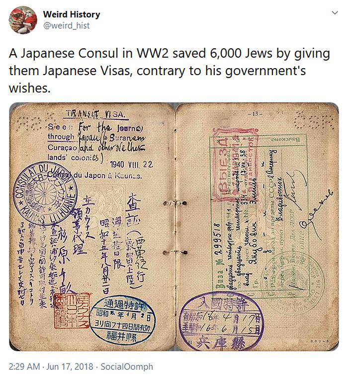 weird history japanese schindler
