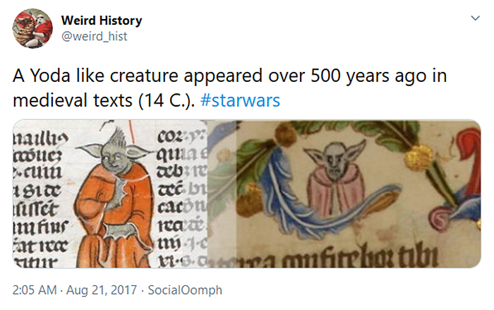 weird history medieval text yoda