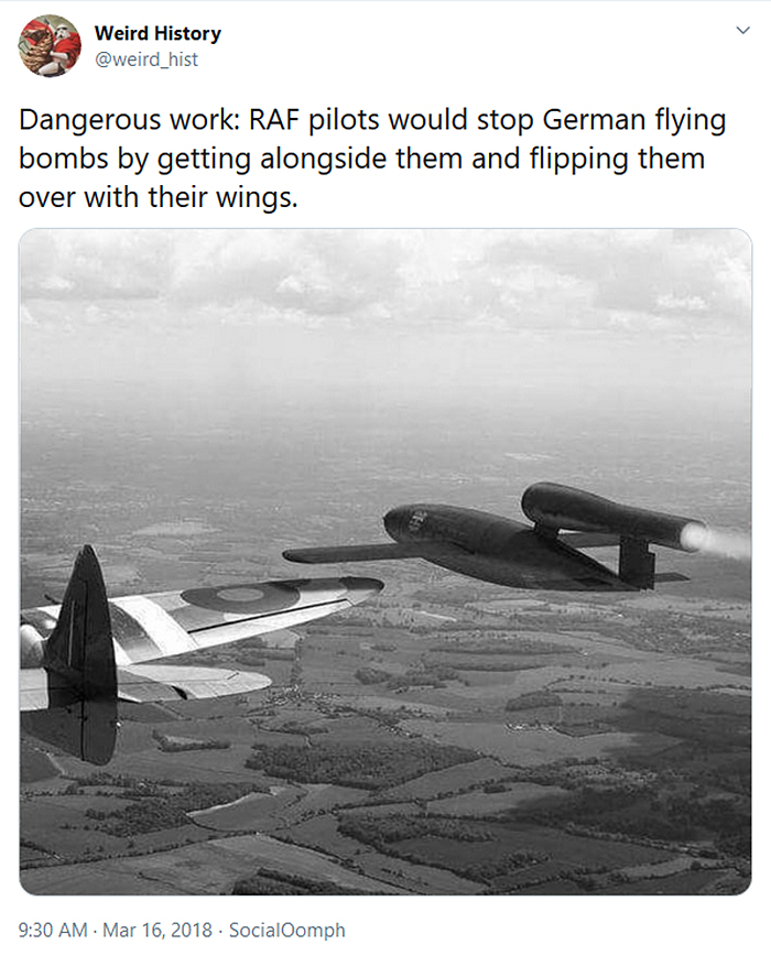 weird history raf pilots stop german flying bombs