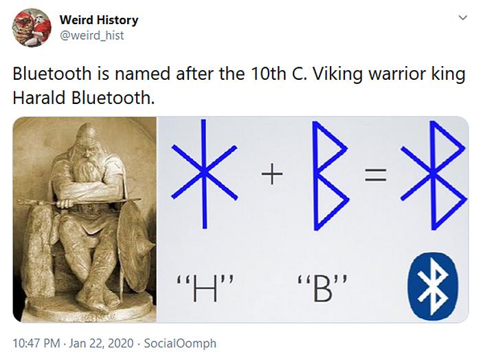 weird history viking warrior harald bluetooth
