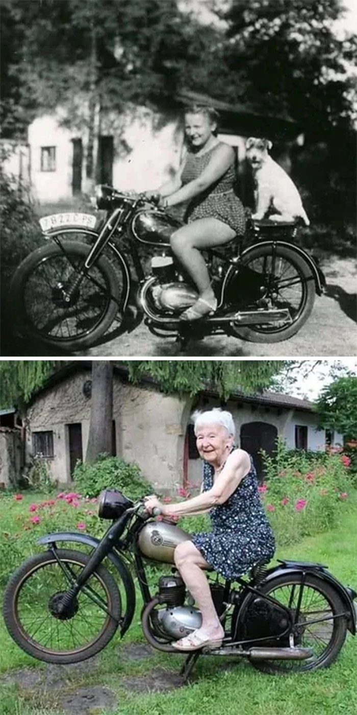 woman recreates photo 71 years later
