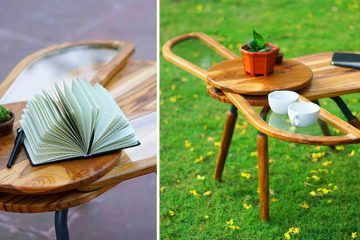 Beetle-Inspired Coffee Table Has Wings