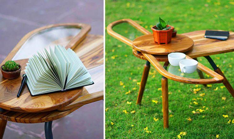 Beetle-Inspired Coffee Table Has Wings