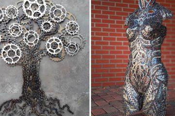 Bike Chain sculptures