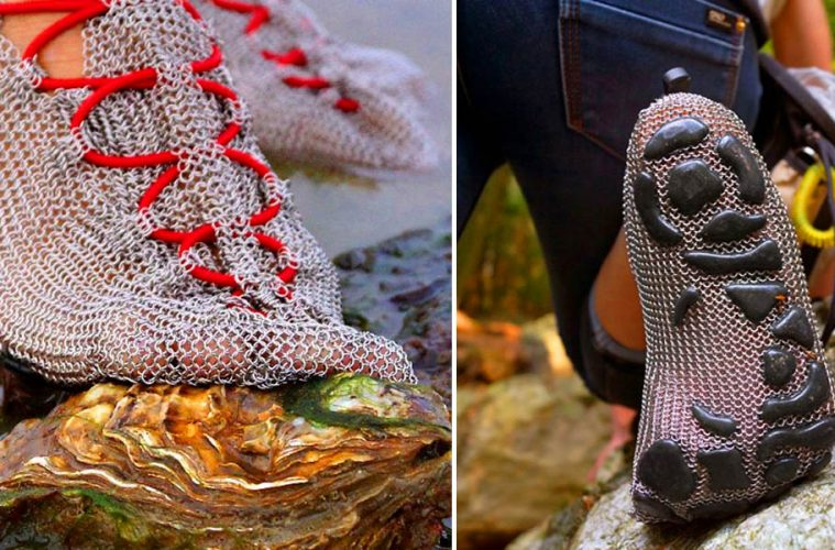 Chain mail shoes