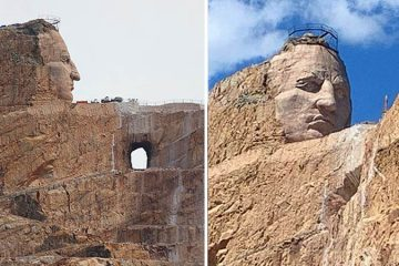 Crazy Horse Memorial sculpture