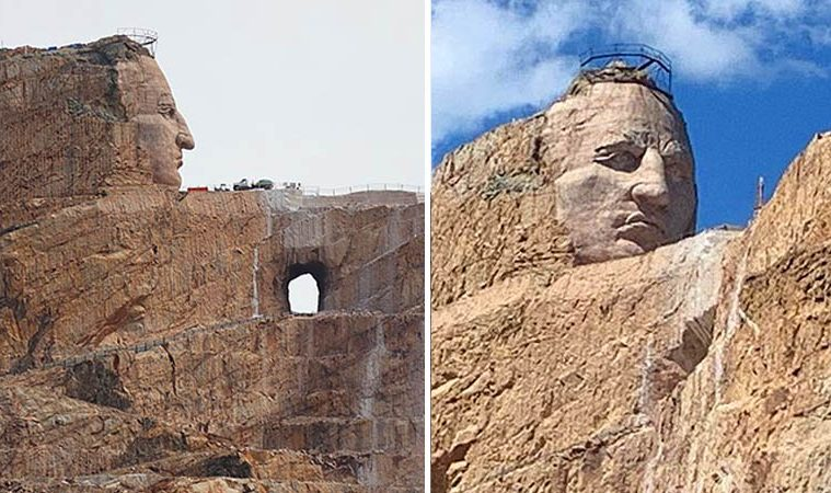 Crazy Horse Memorial sculpture